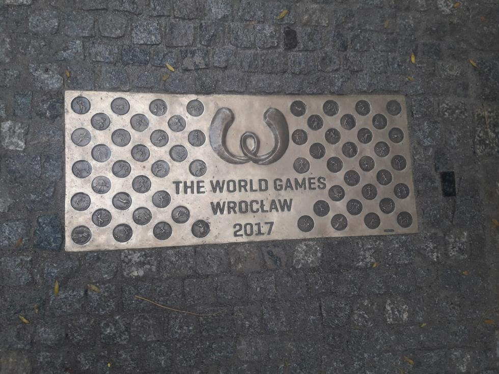 "Tablica The World Games 2017 na ""Ścieżce historii Wrocławia"""