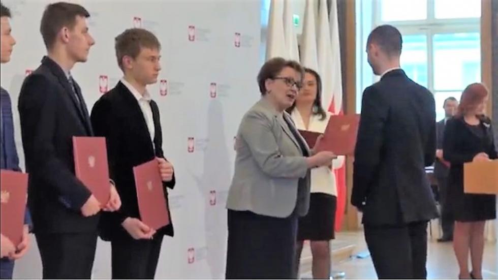 Paweł Wożniak ze stypendium Ministra Edukacji Narodowej