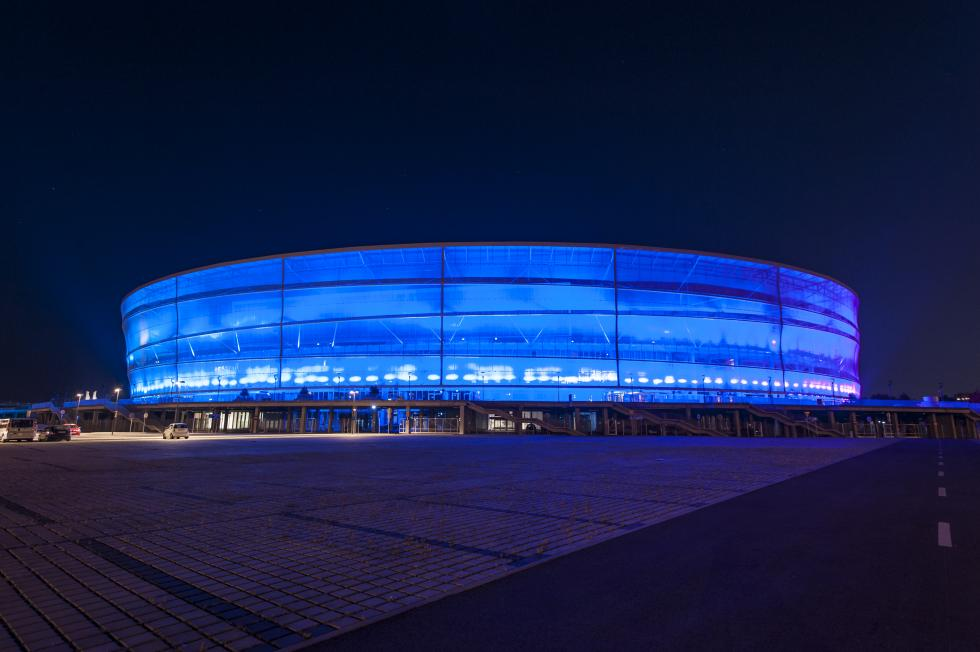 Stadion Wrocław na niebiesko dla autyzmu