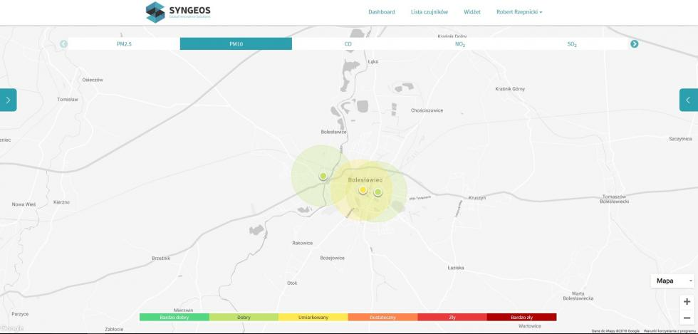 Nowe czujniki smogu wBolesławcu
