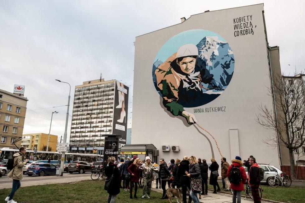 Nowy mural przy pl. Legionów odsłonięty