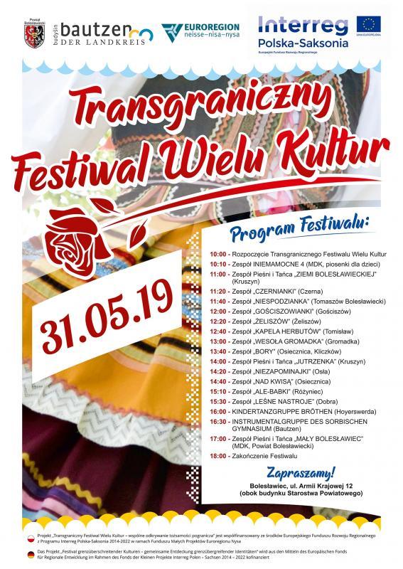Zaproszenie na Transgraniczny Festiwal Wielu Kultur