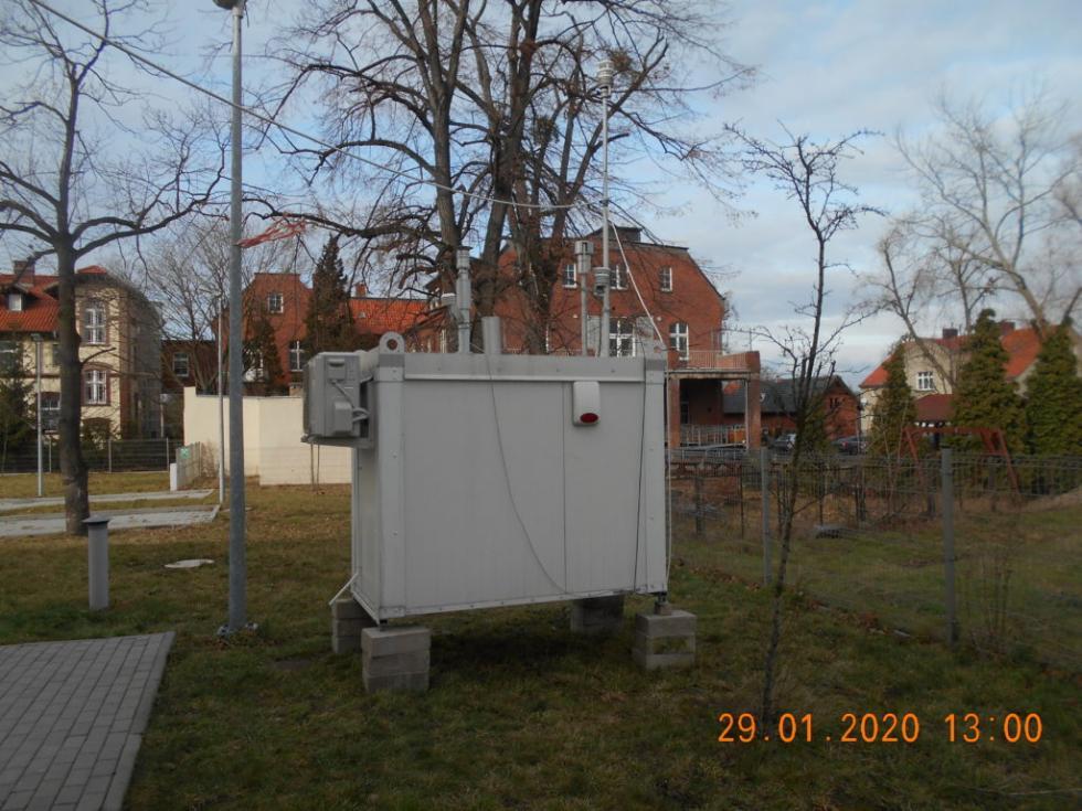 Stacja pomiaru jakości powietrza wŚrodzie Śląskiej