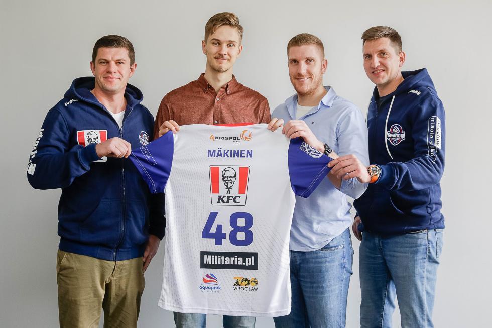 Reprezentant Finlandii wKFC Gwardii Wrocław