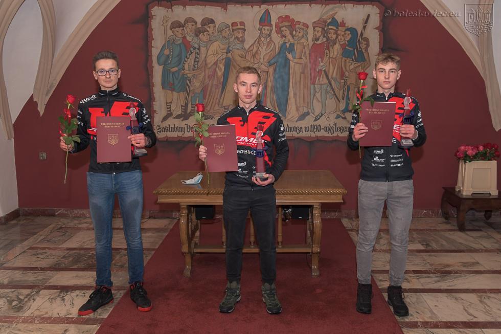 Laureaci nagrody za promocję Bolesławca w2020 roku  wdziedzinie SPORT