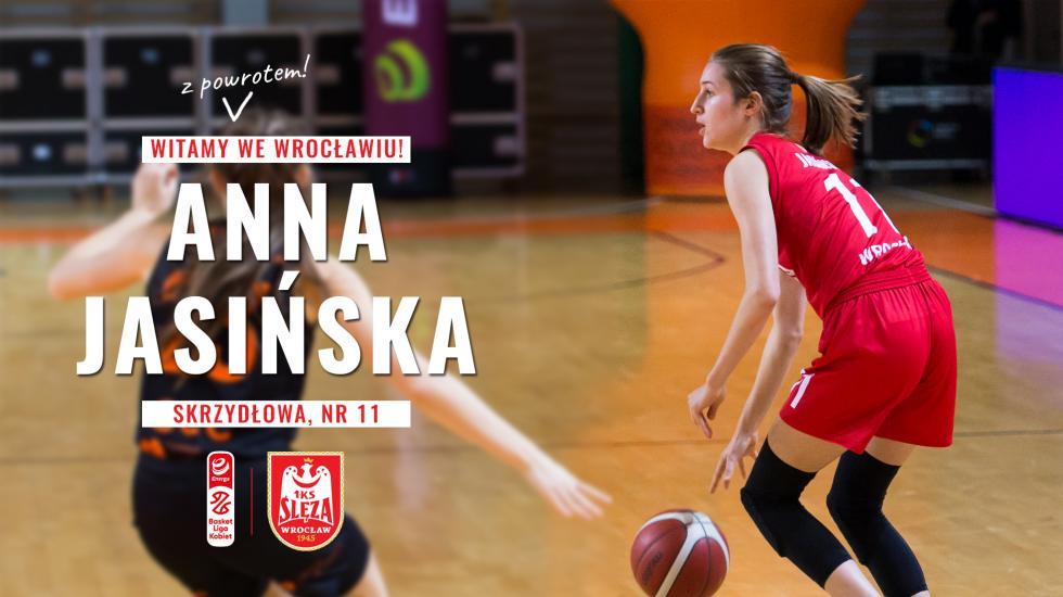Anna Jasińska znowym kontraktem wŚlęzie Wrocław