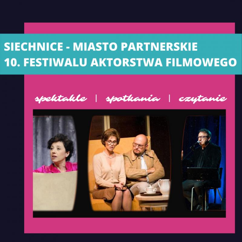 Zapraszamy na Festiwal Aktorstwa Filmowego wSiechnicach